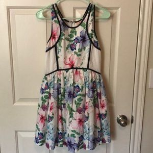 Beautiful Floral and White Dress